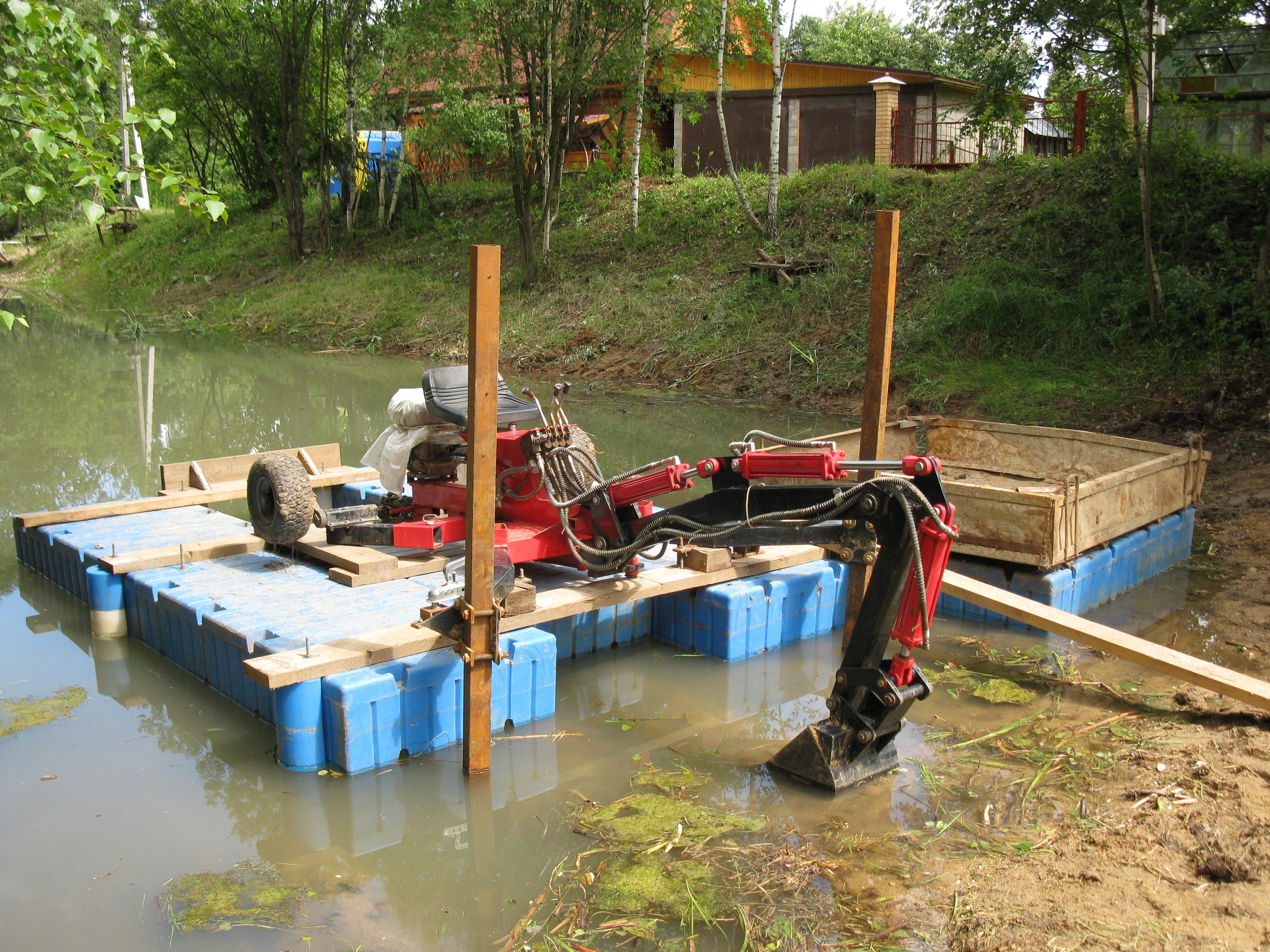 Как самостоятельно очистить пруд Как очистить пруд от водорослей 4